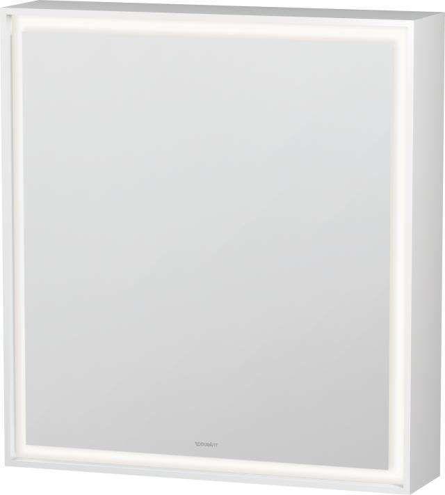Duravit L-Cube Spiegelschrank mit Beleuchtung 700x650x155mm Türanschlag rechts mit LED Beleuchtung 36 W LC7550R0000
