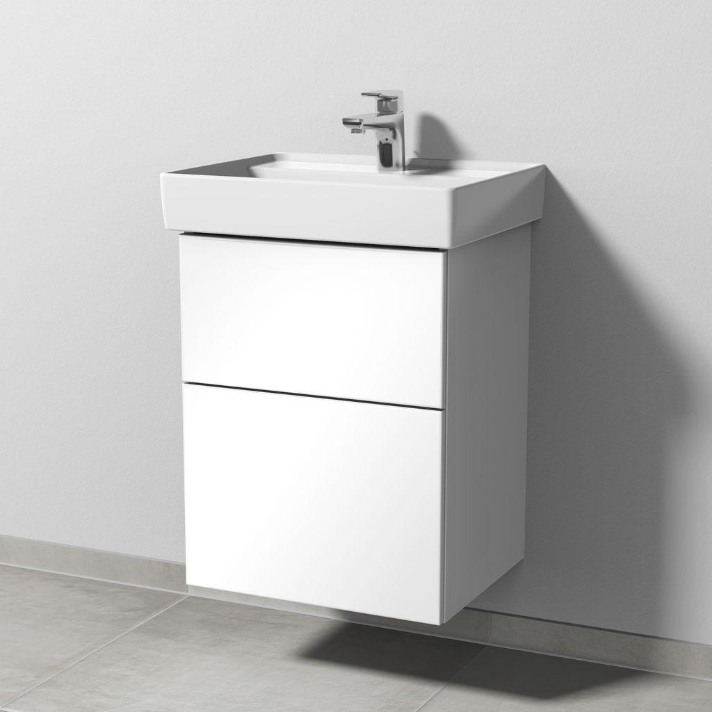 Sanipa 3way Waschtischunterbau mit Auszügen (SM832) H:58,8xB:45xT:37,7cm Weiß-Soft SM83243