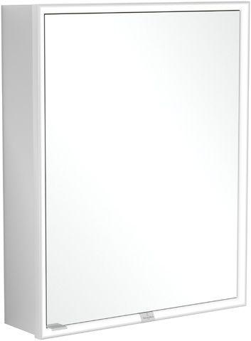 Villeroy & Boch My View Now Einbau-Spiegelschrank B:60xH:75xL:16,8 cm mit LED-Beleuchtung mit 1 Tür mit 2 Steckdosen innnen Smart Home fähig zur Montage vor der Wand Aluminium A4586R00
