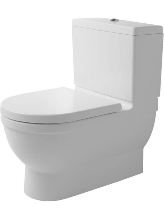 Duravit Starck 3 Tiefspül-Stand-WC für Aufsatzspülkasten L:74xB:42cm weiß mit Wondergliss 21040900001