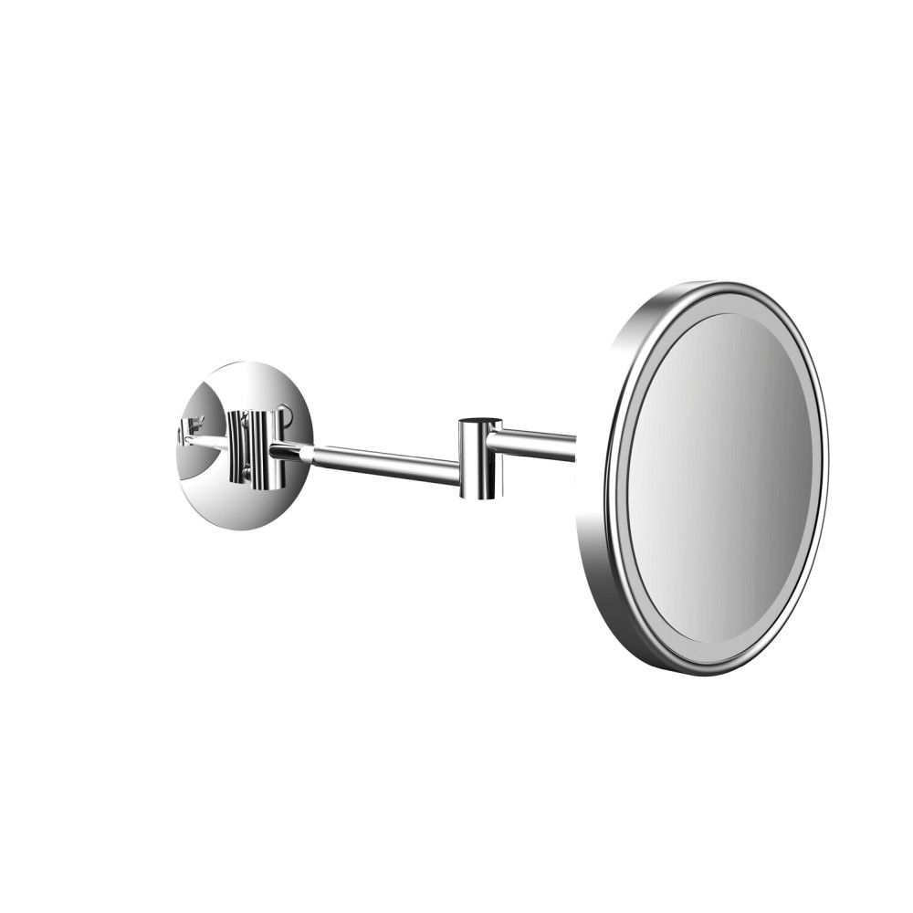 Emco Pure LED-Kosmetikspiegel D:20,3cm 3-fache Vergrößerung 2-armig chrom 109406012