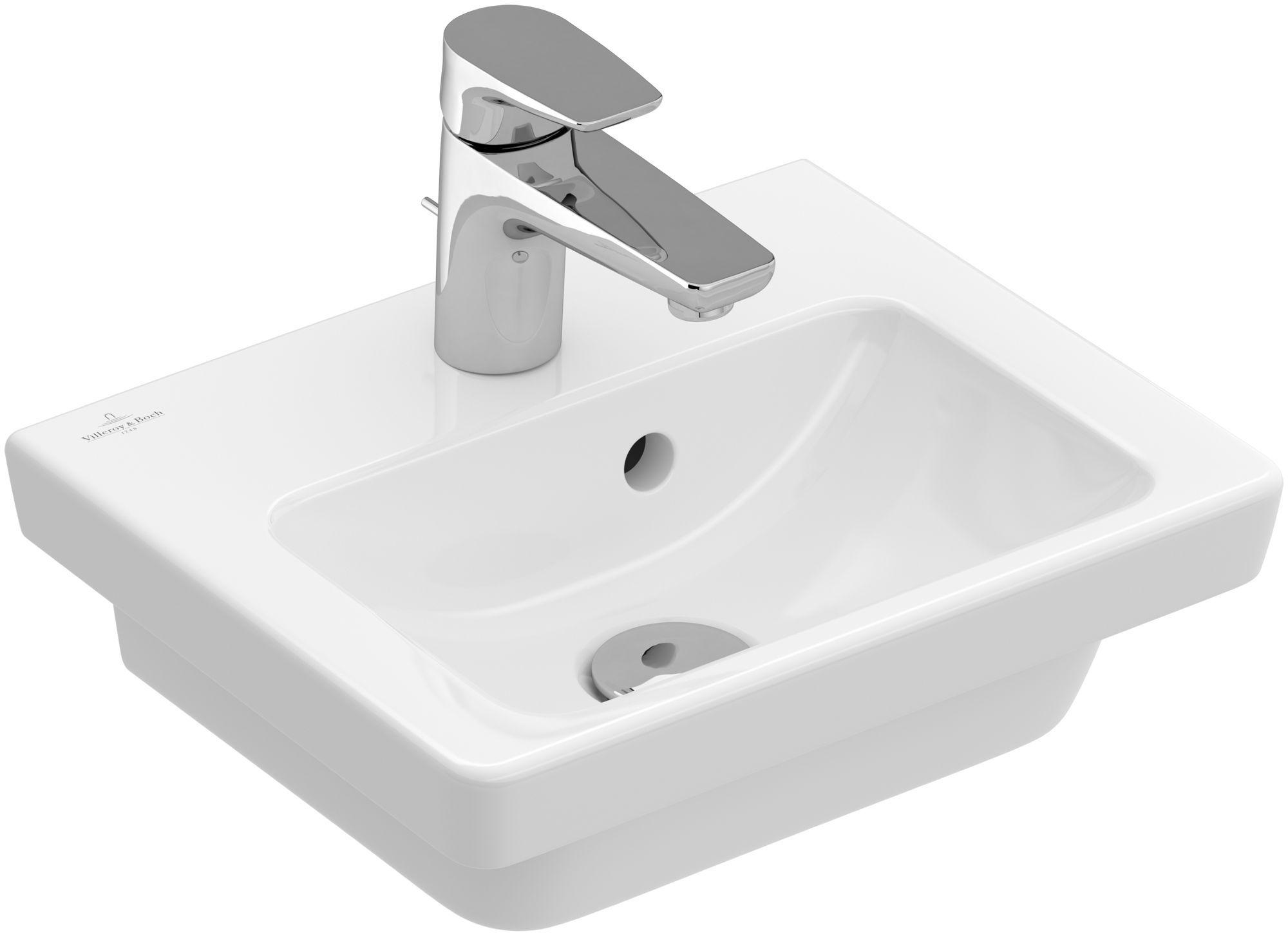 Villeroy & Boch Subway 2.0 Handwaschbecken B:37xT:30,5cm 1 Hahnloch mit Überlauf weiß mit Ceramicplus 731737R1