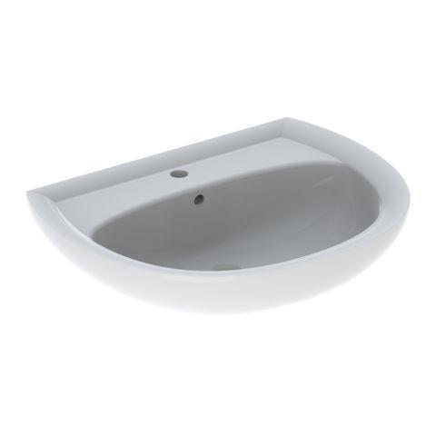 Geberit Keramag Renova Waschtisch B:65xT:51cm 1 Hahnloch mit Überlauf weiß mit KeraTect 223065600