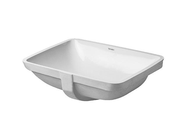 Duravit Starck 3 Einbauwaschtisch B:49xT:36,5cm ohne Hahnloch mit Überlauf weiß 0305490000