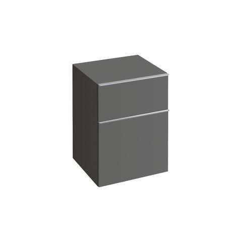 Geberit Keramag iCon Seitenschrank mit 1 Auszug und 1 Schublade B:450xT:477xH:600mm lava matt 841046000