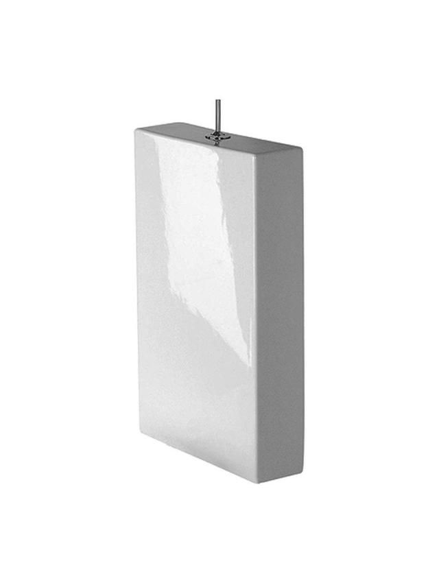 Duravit Starck 1 Spülkasten mit DualFlush Innengarnitur chrom mit Drücker puro chrom weiß mit Wondergliss 87271000051