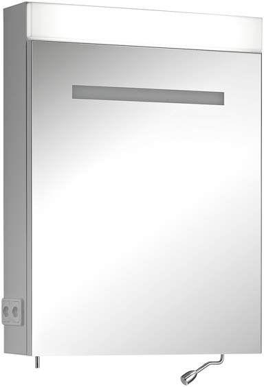 Schneider Careline LED Spiegelschrank B:60xH:76xT:16cm 1 Tür Anschlag links weiß 145.363.02.02