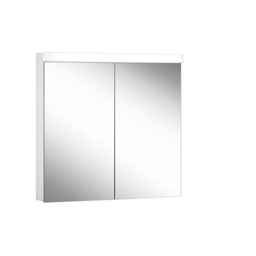 Schneider Spiegelschrank DAILY Line Ultimate 80/2/TW B:80xH:74,8xT:12cm mit Beleuchtung weiß 178.080.02.02