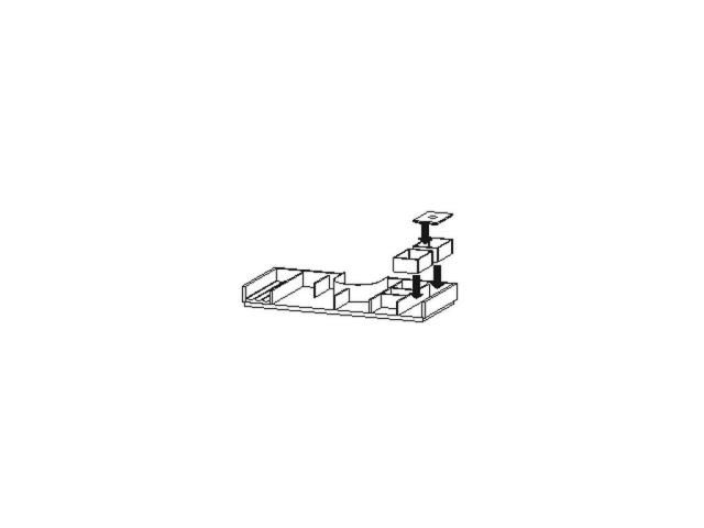 Duravit L-Cube Einrichtungssystem Universal für Schubkasten 1020mm mit Siphonausschnitt nussb.massiv UV982207777