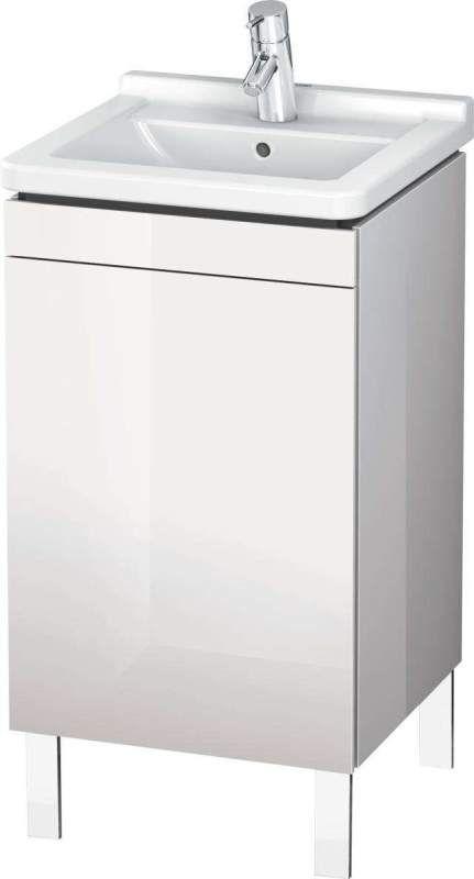 Duravit L-Cube Waschtischunterschrank stehend B:46xH:71,2xT:44,7 cm mit 1 Tür Anschlag rechts stone blue hochglanz LC6169R4747