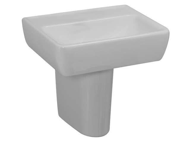 Laufen Pro Handwaschbecken B:45xT:34cm 1 Hahnloch mittig mit Überlauf pergamon H8119510491041