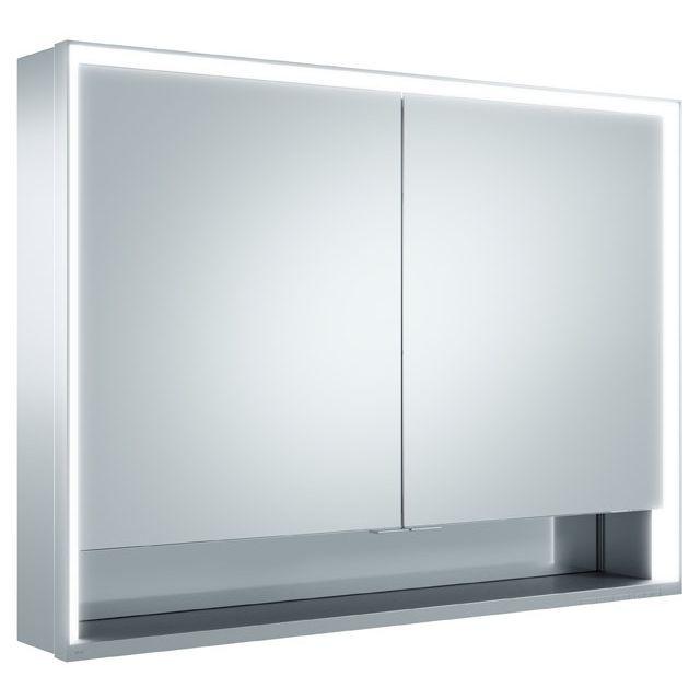 Keuco Royal Lumos Spiegelschrank Wandvorbau B:100xH:73,5 cm silber-eloxiert 14304171301