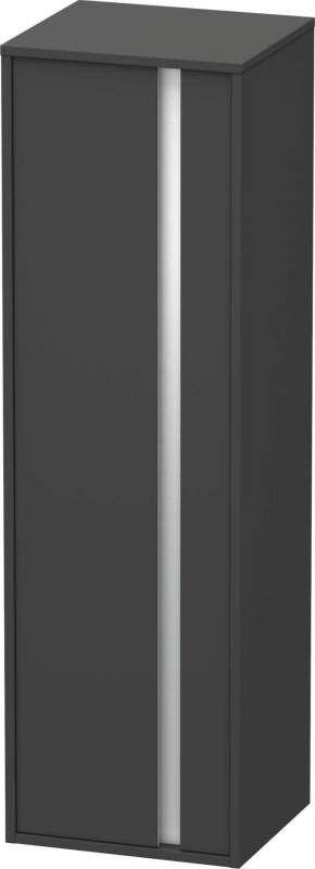 Duravit Ketho Hochschrank B:40xH:132xT:36cm 1 Tür Türanschlag links graphit matt KT1257L4949