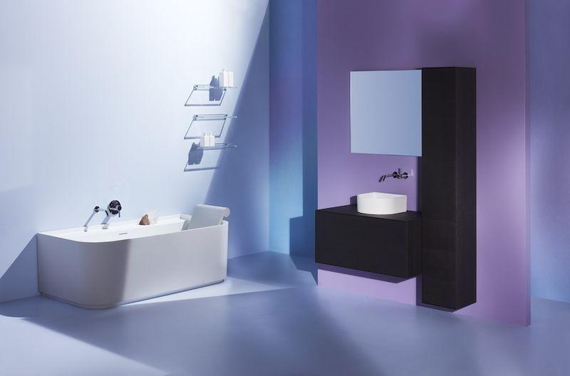 Laufen Boutique Waschtischunterbau 1 Auszug mit Ausschnitt mittig B:90xH:43xT:50cm eiche dunkel H4090131502511