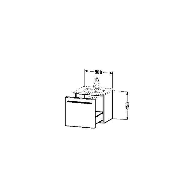 Duravit X-Large Waschtischunterschrank wandhängend B:50xH:45,6xT:40,7 cm mit 1 Auszug amerikanischer nussbaum XL606001313