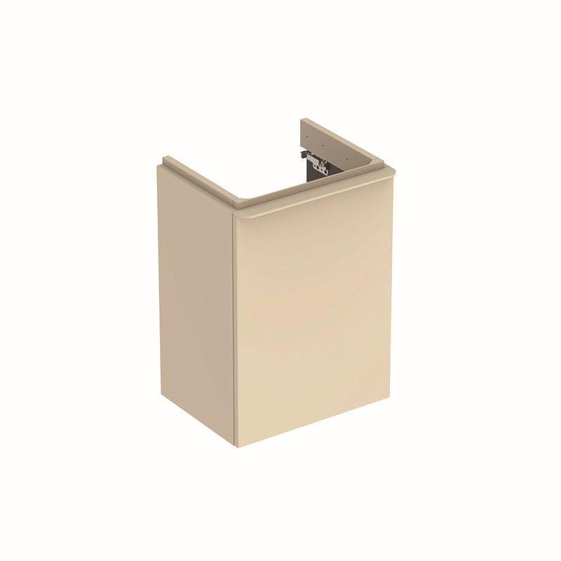 Geberit Smyle Square Unterschrank für Handwaschbecken mit 1 Tür links 442x617x356cm sand-grau 500351JL1