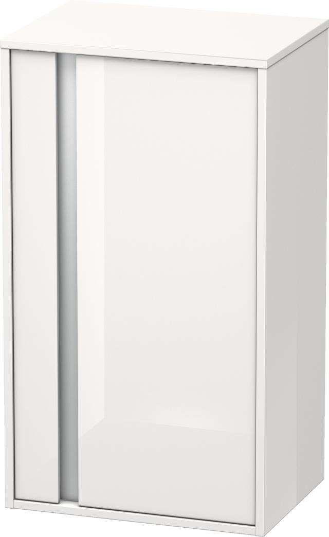 Duravit Ketho Halbhochschrank B:50xH:88xT:36cm 1 Tür Türanschlag rechts weiß hochglanz KT1266R2222
