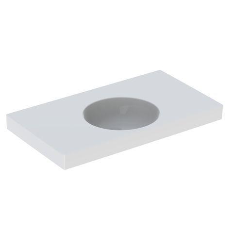 Geberit Keramag Preciosa II Waschtisch B:90xT:50cm ohne Hahnloch ohne Überlauf weiß mit KeraTect 123291600