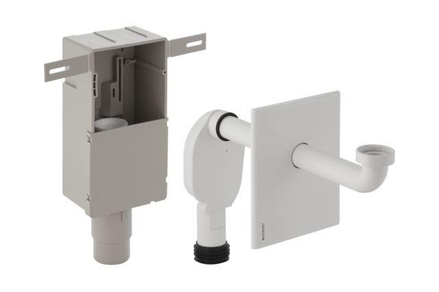 Geberit Unterputz-Geruchsverschluss für Waschbecken Abgang horizontal weiß-alpin D50-56 151120111