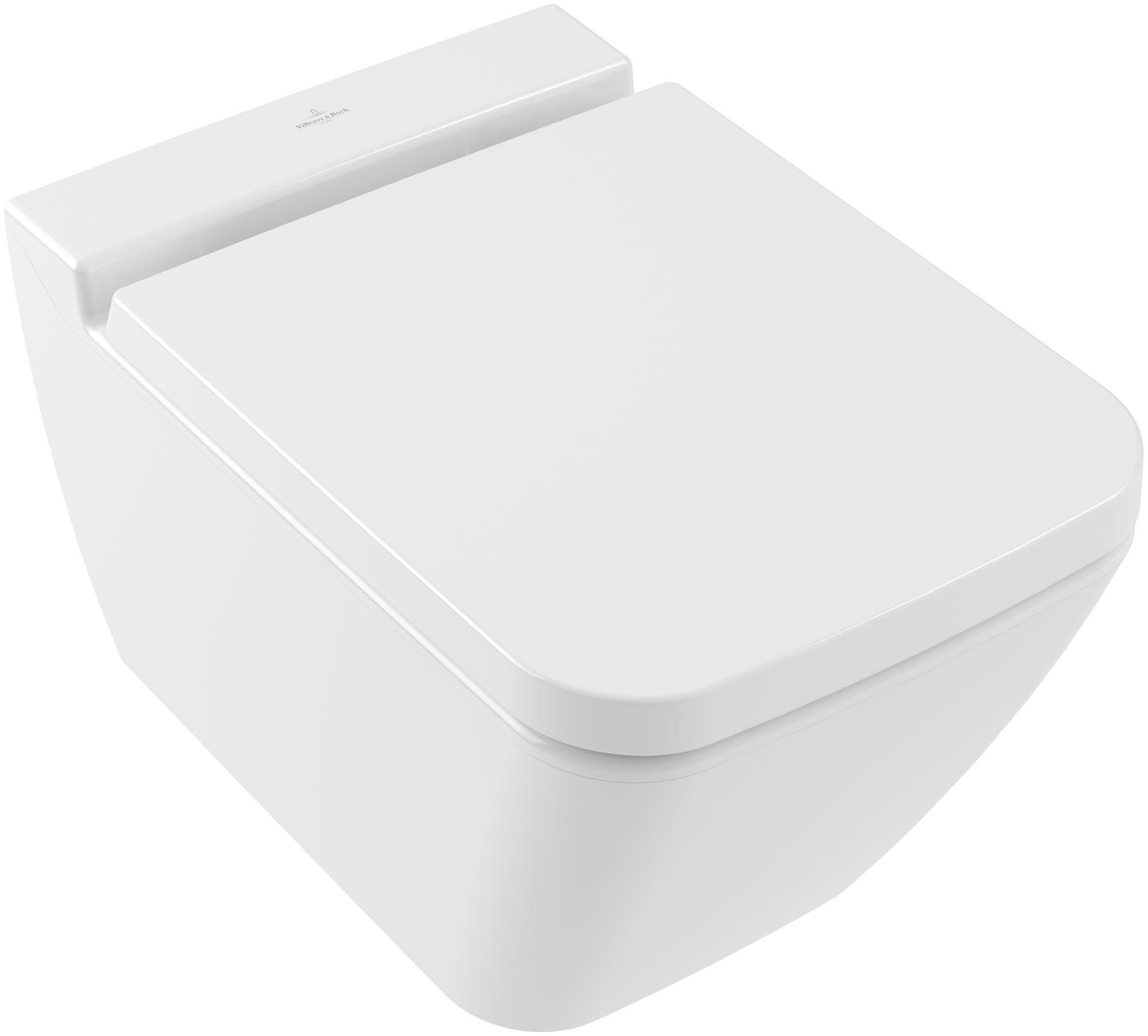 Villeroy & Boch Finion Tiefspül-Wand-WC spülrandlos DirectFlush B:37,5xL:56cm weiß Ceramicplus 4664R0R1