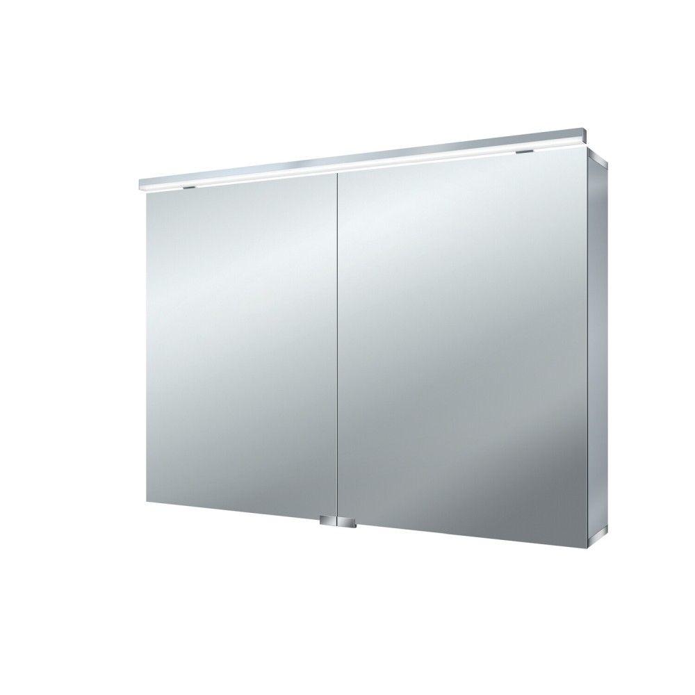 Emco Pure Lichtspiegelschrank B:100xH:72,8xT:17,8cm Aufputz 1-teilig aluminium 979705283