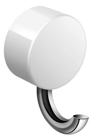 HEWI Haken System 815 Halter chrom mit Kunststoffrosette Signalweiß 815.90.01090 98