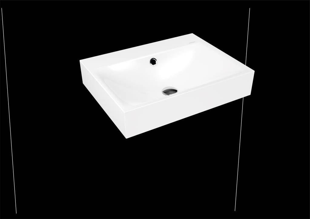 Kaldewei Silenio Wandwaschtisch 3044 B:60xT:46cm mit Überlauf mit 1 Hahnloch weiß mit Perl-Effekt 904306013001