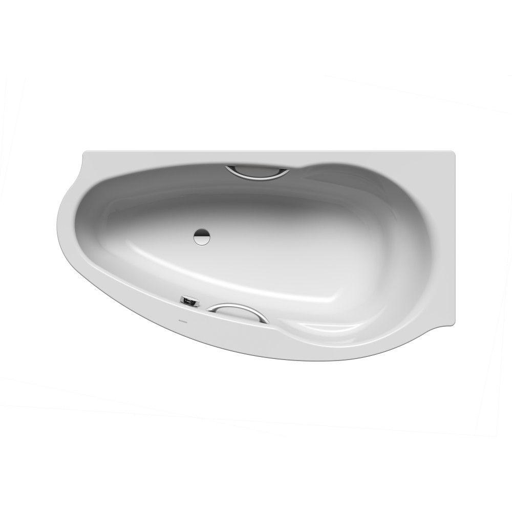 Kaldewei CONOFLAT Sonderform-Badewanne STUDIO LINKS 829-1 L:170xB:90cm mit Griffloch manhattan 222948043231
