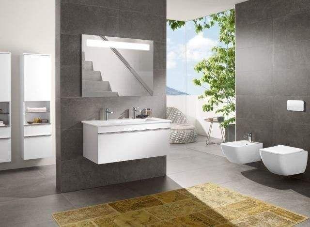 Villeroy & Boch Venticello Möbelwaschtisch B:100xT:50cm 2 Hahnlöcher mit Überlauf weiß 4104AK01