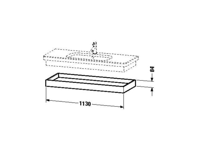 Duravit DuraStyle Ablageboard B:113xH:8,4xT:44,8cm weiß matt, basalt matt DS618301843