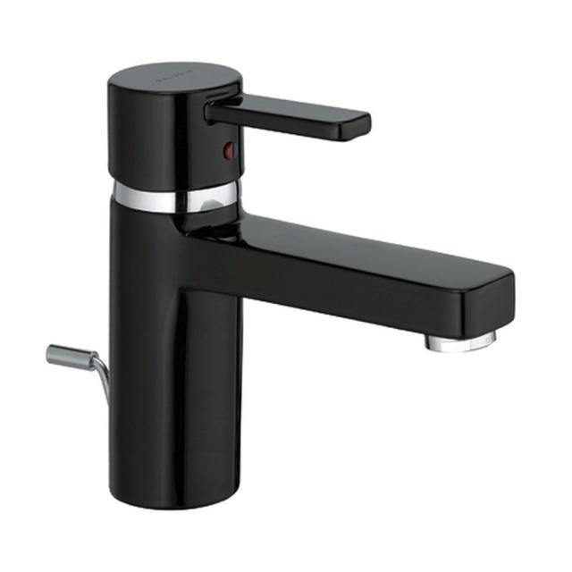 KLUDI ZENTA Waschtisch-Einhandmischer DN 10 hohe Ausführung Ablaufgarnitur chrom/schwarz 382608675