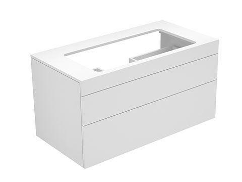 Keuco Edition 400 Waschtischunterbau ohne Hahnlochbohrung 2 Auszüge 1050 x 546 x 535 mm petrol/petrol 31582470000