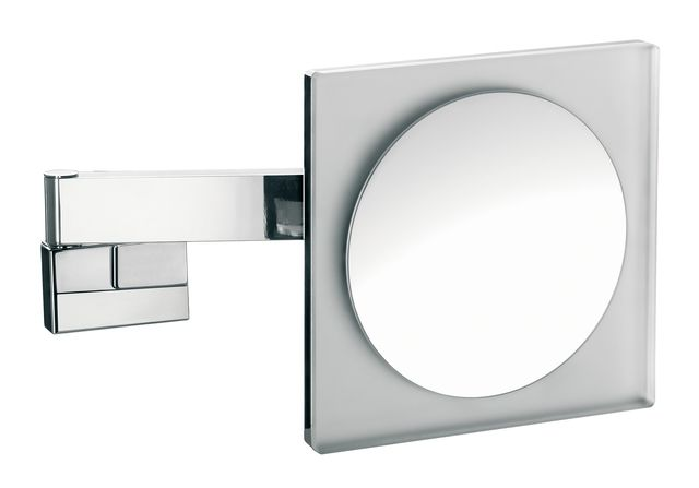 Emco LED Rasier- & Kosmetikspiegel 2-armig Vergrößerung 5-fach mit Farbwechsel Direktanschluss eckig chrom 109606004