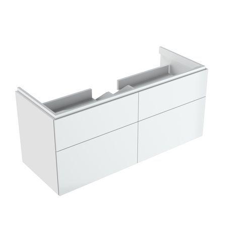 Geberit Keramag Xeno2 Waschtischunterschrank mit 2 Auszügen und 2 Schubladen mit LED-Beleuchtung B:1174xT:462xH:530mm weiß hochglanz 500518011