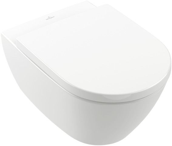 Villeroy & Boch Subway 2.0 Wand-Tiefspül-WC DirectFlush mit offenem Spülrand L:56,5xB:37,5xH:41,5cm Weiß Alpin mit CeramicPlus 5614R0R1