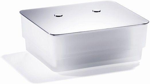 Giese Von der Rolle WC-Uno Glasbehälter für Feuchtpapier Kristallglas satiniert chrom 31773-02