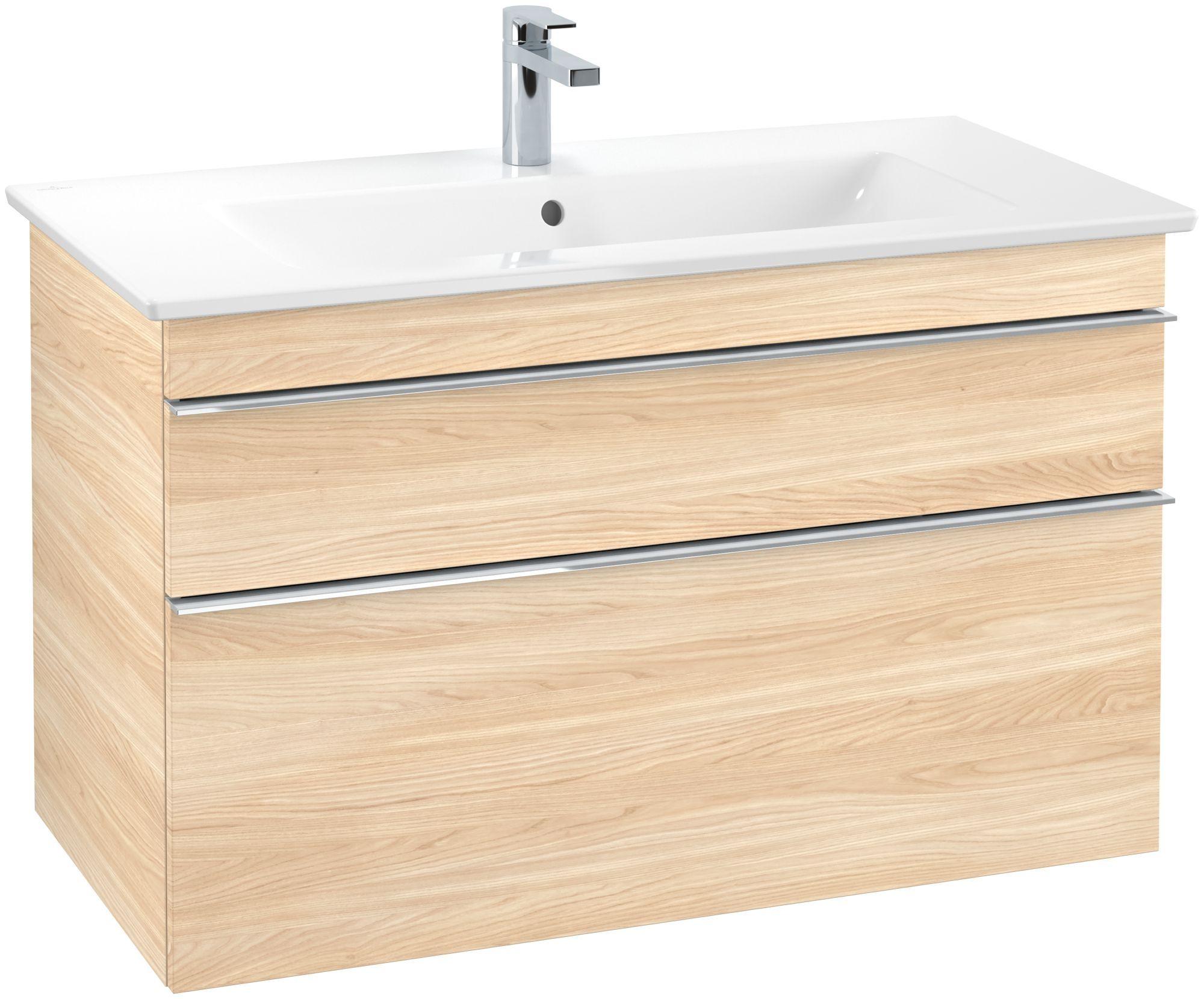 Villeroy & Boch Venticello Waschtischunterschrank 2 Auszüge B:953xT:502xH:590mm ulme impresso Griffe chrom A92601PN