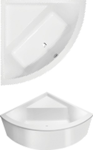 Villeroy & Boch Subway Eck-Badewanne Technik Position 2 L:130xB:130xcm weiß UAC130SUB3B2V01 - MAIN