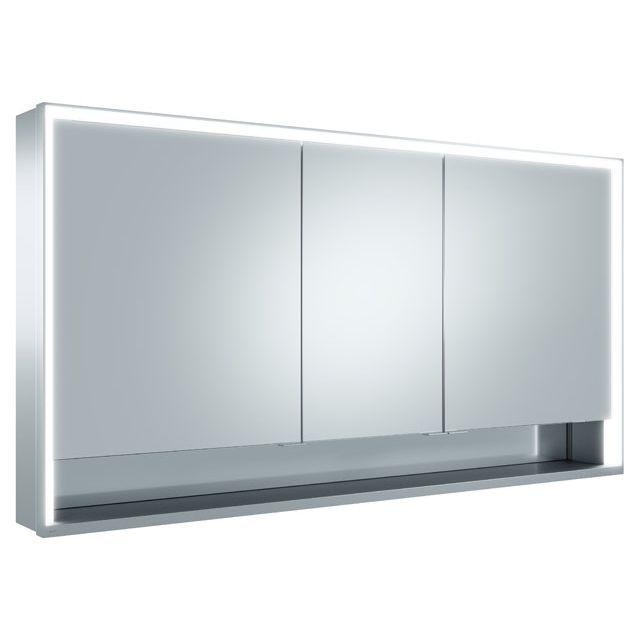 Keuco Royal Lumos Spiegelschrank Wandvorbau B:140xH:73,5 cm silber-eloxiert 14306171301