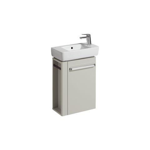 Geberit Keramag Renova Compact Handwaschbecken-Unterschrank Handtuchhalter links B:44,8xH:60,4xT:22,2cm hellgrau 862251000