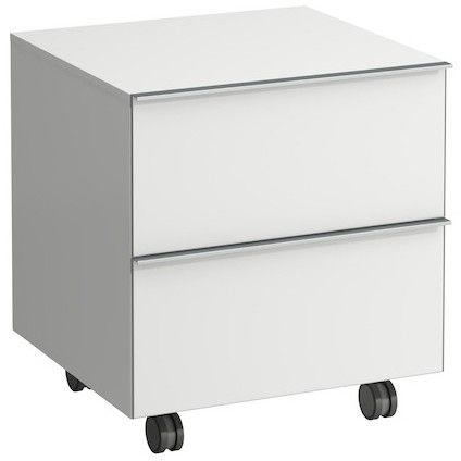 Laufen Space Rollcontainer mit 2 Auszügen B:53,5xH:58xT:52cm weiß matt H4111921601001