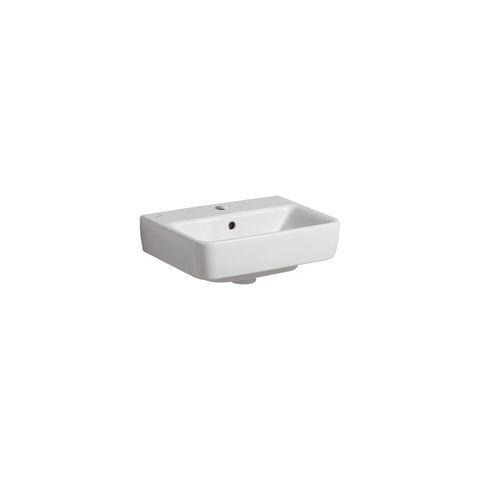 Geberit Keramag Renova Compact Handwaschbecken B:45xT:34cm 1 Hahnloch mit Überlauf weiß mit KeraTect 276145600