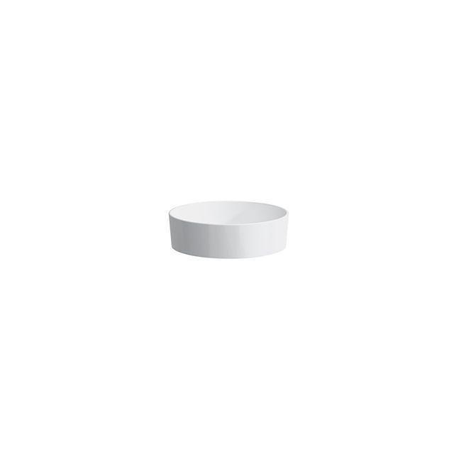 Laufen Kartell by Laufen Schalenwaschtisch rund DM:42xH: 13,5cm ohne Hahnloch ohne Überlauf weiß mit CleanCoat LCC H8123314001121