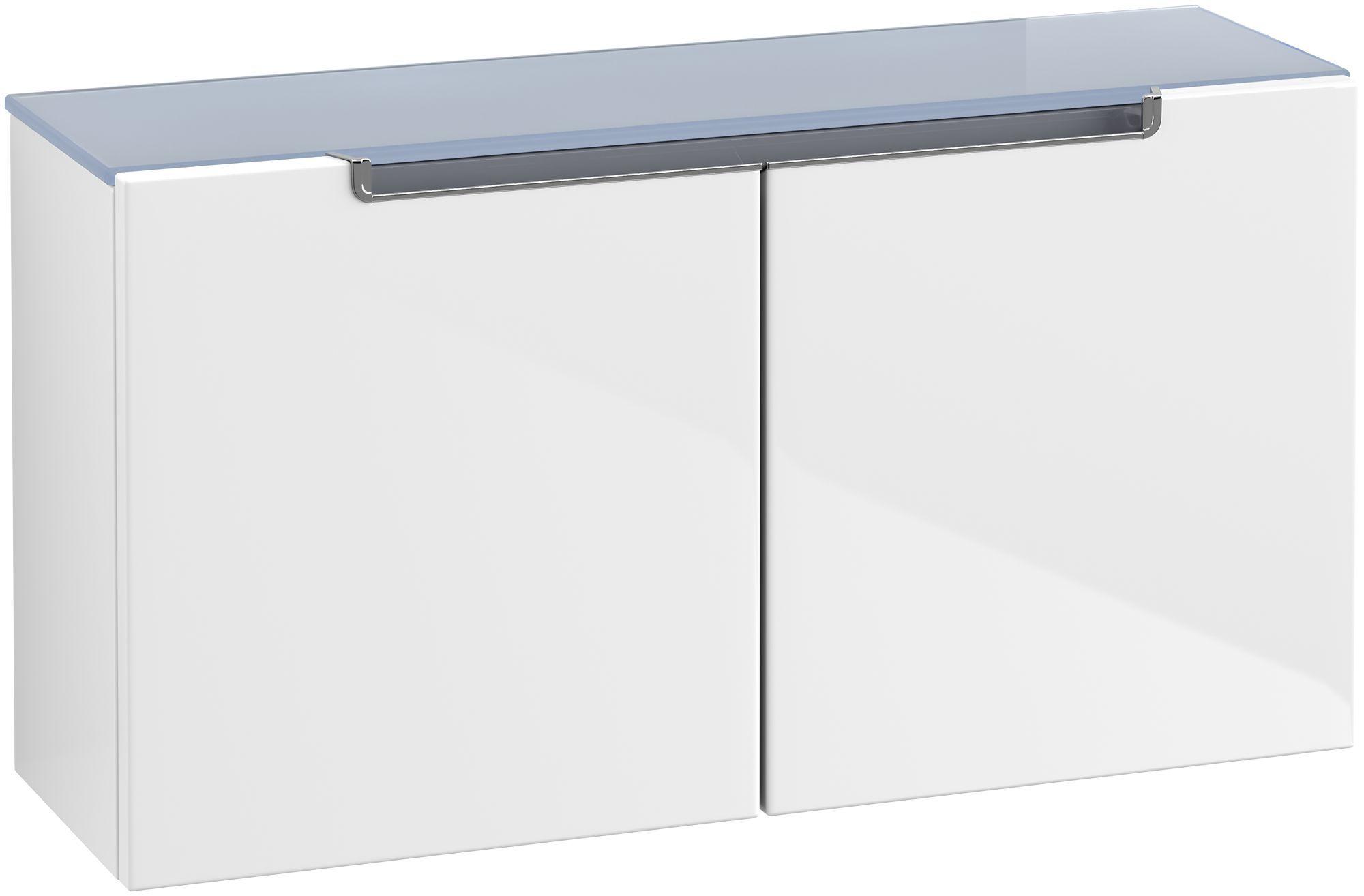 Villeroy & Boch Subway 2.0 Sideboard 2 Türen B:758xT:235xH:400mm glossy weiß Griffe chrom A7041RDH