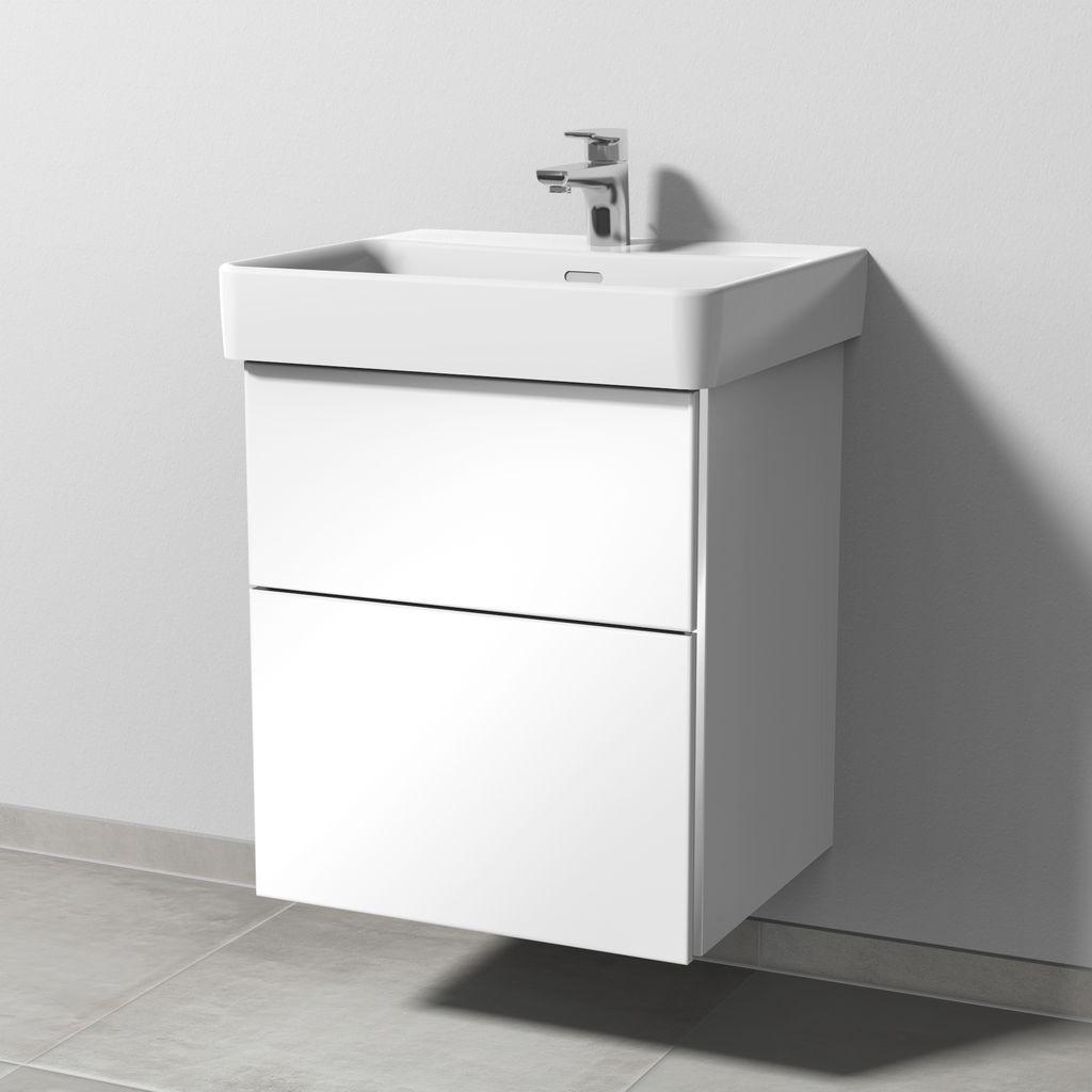 Sanipa 3way Waschtischunterbau mit Auszügen (BS765) H:59,3xB:50xL:43,7cm Weiß-Glanz BS76578