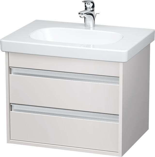 Duravit Ketho Waschtischunterschrank wandhängend B:60xH:48xT:45,5cm 2 Schubkästen weiß matt KT665001818