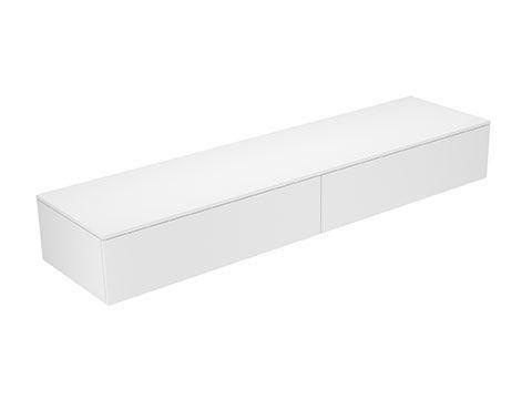 Keuco Edition 400 Sideboard wandhängend 2 Frontauszüge 2100 x 289 x 535 mm titan/Glas titan klar 31771130000