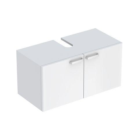 Geberit Keramag Renova Plan Waschtischunterschrank mit 2 Türen B:930xT:445xH:463mm weiß hochglanz 879100000