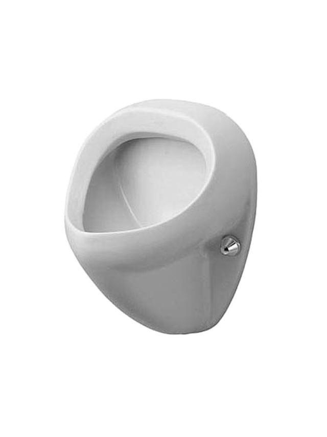 Duravit Bill Urinal ohne Deckel mit Zielobjekt Zulauf von hinten weiß 0851350007