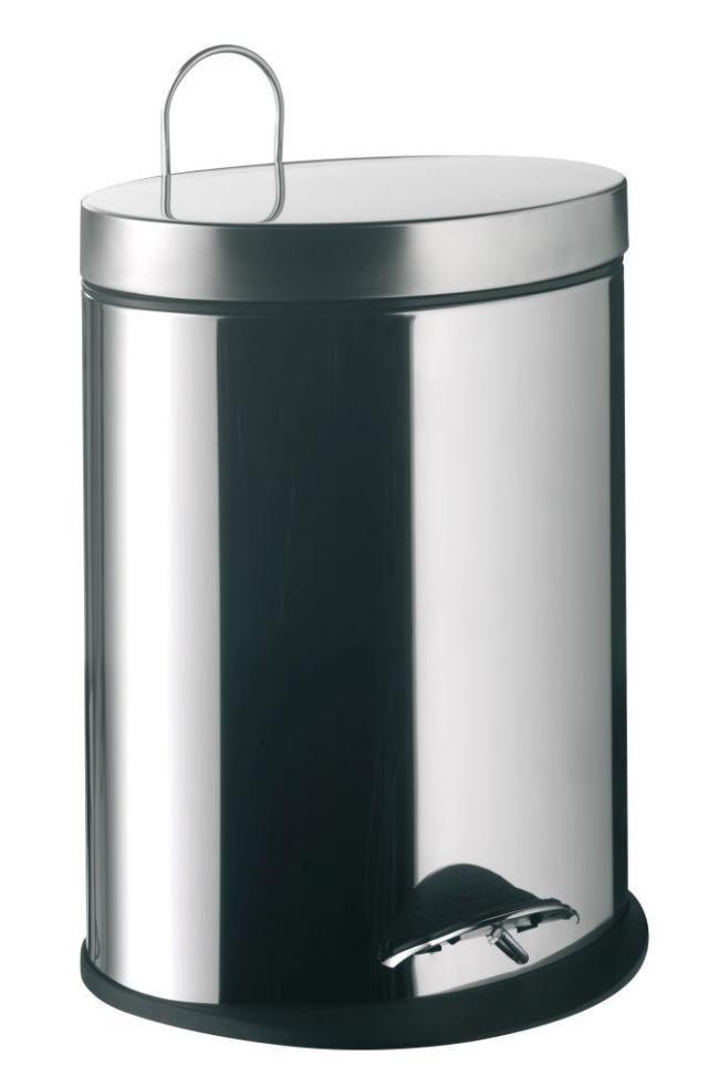 Emco System 2 Abfallbehälter 355300004, oval, 5 l, mit Deckel, edelstahl-optik